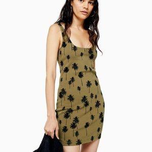 Topshop palm print tunic dress NWT